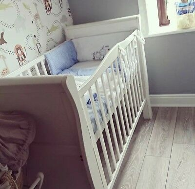 Cot Bed With Cot Bedding But NO MATTRESS