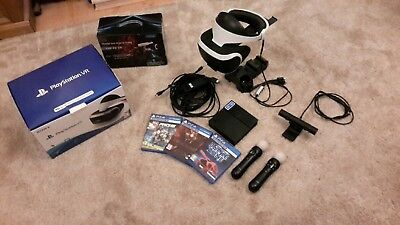 Playstation VR Bundle with camera, move controllers, charging stand and 3 Games,