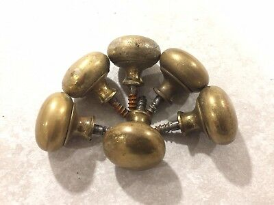 Vintage brass cupboard door knobs