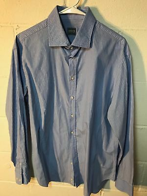 Honest Armani Exchange Mens Shirt Button Down Long Sleeve Size L Red Blue Clothing, Shoes & Accessories