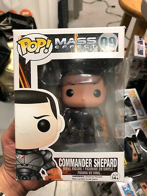 Funko Pop Commander Shepard Mass Effect With Protector
