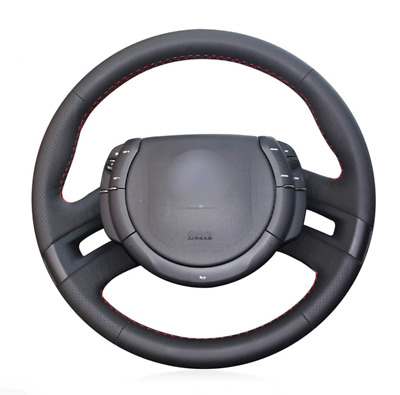 Black Artificial Leather Car Steering Wheel Cover for Citroen C4 Picasso 2007-13