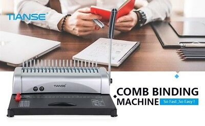 21-Hole 450 Sheets Paper Comb Punch Binder Binding Machine Scrapbook