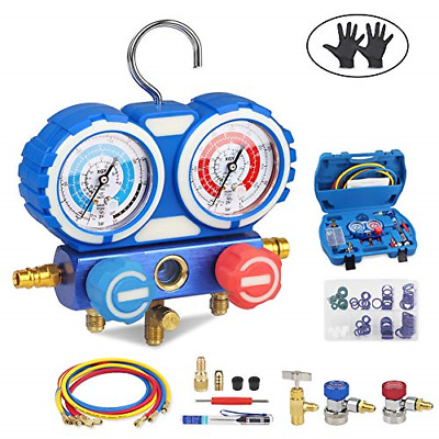 JDMON AC Diagnostic Manifold Gauge Set for Freon Charging, Fits R134A R404A and