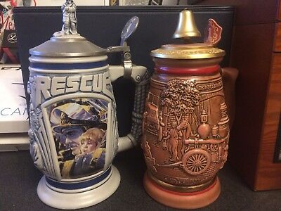 Firefighter/EMS Avon Beer Stein PAIR