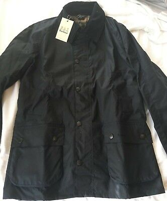 Brand New Navy Barbour Men's Ashby waxed cotton canvas Jacket Size Medium
