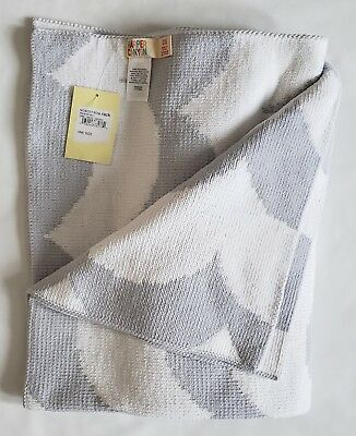 NWT Harper Canyon Gray Micro Waves Knit Baby Blanket Security Blanket