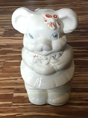 Turnabout 2 Headed Mccoy / Shawnee Like Piggy Pig Bear Cookie Jar Vintage 30S