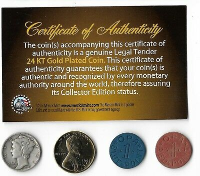 Rare Very Old US WWII Coin Collection War Lot Silver Mercury Gold Lincoln OPA 82