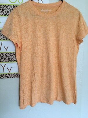 lot of two eddie bauer tops womens large knit tops shirt orange short sleeve