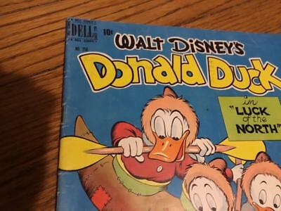 Vintage 1949 Dell comics Donald Duck comic book #256 Luck of the North Barks art