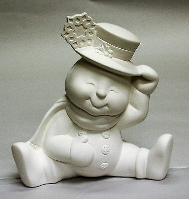 Ceramic Bisque Snowman Snowflake Hat Donas Mold 1049 U-Paint Ready To Paint