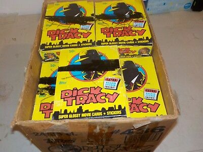 1990 Topps Dick Tracy Unopened Wax Box Lot of 23 Boxes w/ 36 Packs per Box Nice!