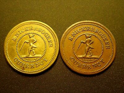 TWO Civil War Tokens Fuld  255 / 393,  one Brass and one Copper