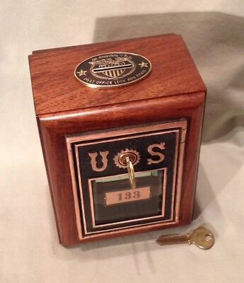 Antique Vintage Post Office Door Mail Box Postal Bank-1890 US Corbin w/Beveled