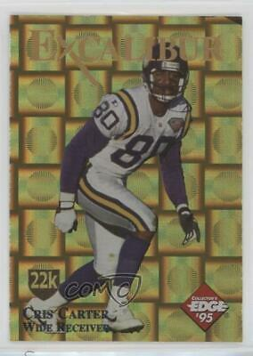 1995 Collector/'s Edge Excalibur 22K Gold Shield Prism #24.1 Marshall Faulk Card