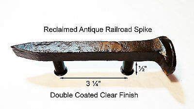 "3-1/4"" Right Sealed Railroad Spike Dresser Drawer Cabinet Handle Antique Vintage"