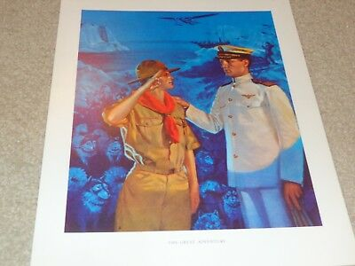 Boy Scout Norman Rockwell The Great Adventure Paul Siple Antarctica 11x14 Print