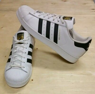 hot sale online b5c7d 3196f Mens Adidas Superstar Originals White Black Gold Athletic Shoes S81858 Size  9 US