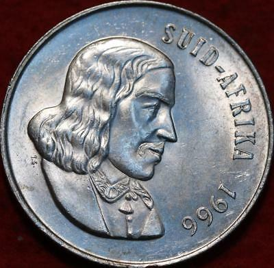 Uncirculated 1966 South Africa 1 Rand Silver Foreign Coin