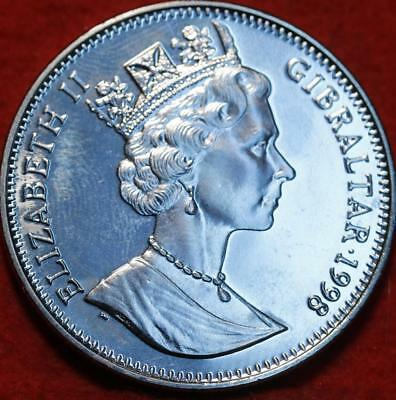 Uncirculated 1998 Gibraltar 1 Crown Clad Foreign Coin
