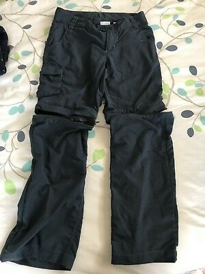 Kids Columbia Outdoor Zip Off Pants/Shorts, Size 8, Blue, Good Condition