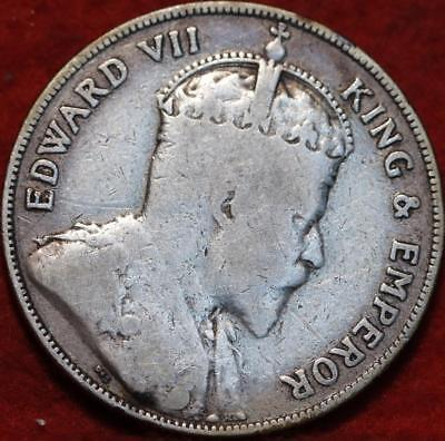 1907 British Honduras 50 Cents Silver Foreign Coin