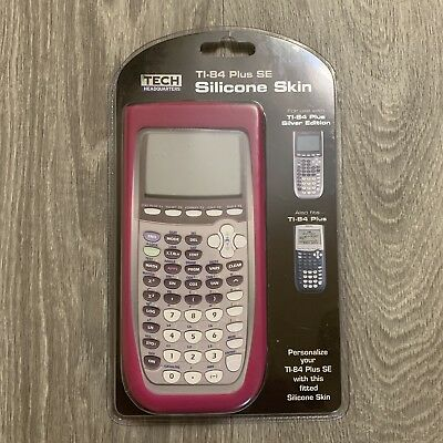 Silicone Skin Cover Tech Headquarters TI-84 Plus SE Pink*calculator not included