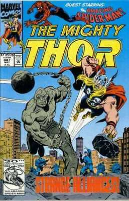 Thor (1966 series) #447 in Near Mint + condition. Marvel comics [*0f]