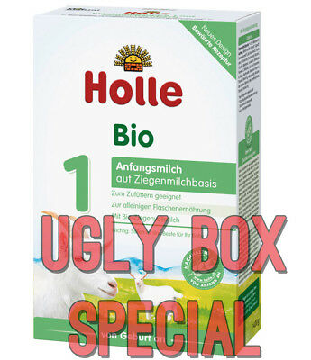 HOLLE GOAT STAGE 1 ORGANIC MILK BABY FORMULA 400g - UGLY BOX - FREE SHIPPING