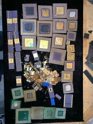 Gold Recovery e-Scrap 14.6 oz of Ceramic Chips plus lots more!