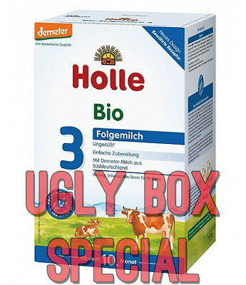 HOLLE STAGE 3 ORGANIC MILK BABY FORMULA 600g - UGLY BOX - FREE SHIPPING