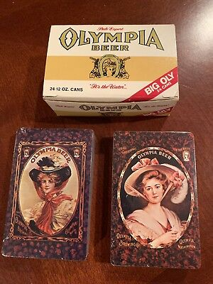 Vintage Olympia Beer Playing Card Decks-Decks Never Played With
