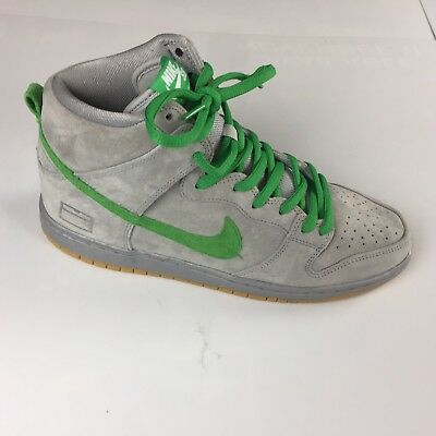 new arrival 996f3 aba83 Nike Dunk High Premium SB Grey Box Silver Hyper Verde 313171-039 Men s Size  10.5
