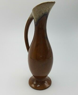 Van Briggle pottery Colorado Springs 7.5 inch brown drip glaze pitcher ewer