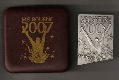 Fina 2007 World Championships Participation Medal In Original Case.