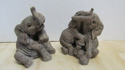 The Herd Collection Elephant 3109 & 3122  Peanut & Ruff&Tumble - No box