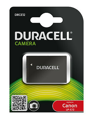 Genuine DRCE12 Duracell Camera Battery for Canon Battery P/No  LP-E12