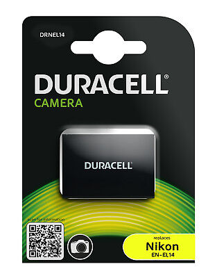 Genuine Duracell Battery for Nikon Battery Part Number EN-EL14, EN-EL14a 1100mAh