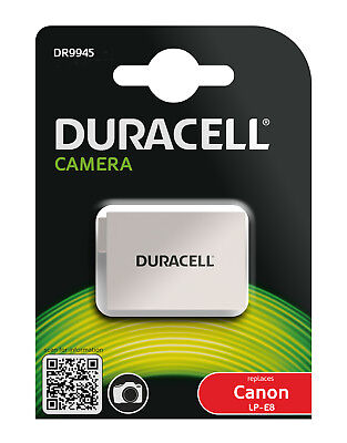 Genuine Duracell Battery for Canon Battery Part Number LP-E8