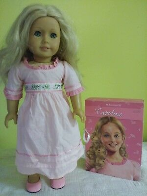 AMERICAN GIRL DOLL CAROLINE 18'' and collection of 6 books, pre owned