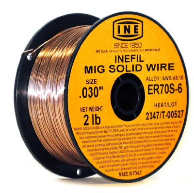 INEFIL ER70S-6 .030-Inch on 2-PoundSpool Carbon Steel Mig Solid Welding Wire