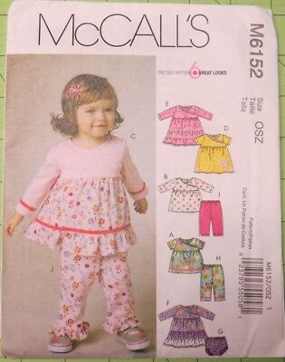 McCall's 6152 dress, panties, pants, top pattern size Sm, M, Lg, uncut