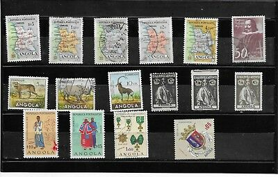 Angola. . Selection Of 16. Fine Used.  As Per Scan