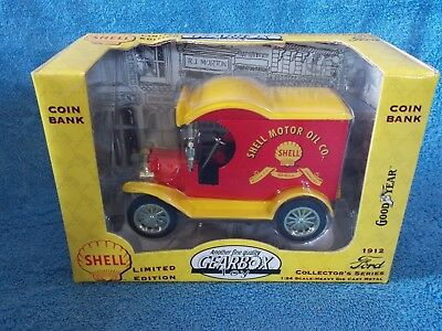 New Shell Motor Oil  Limited Edition Coin Bank By Gearbox 1912 Ford Delivery Car
