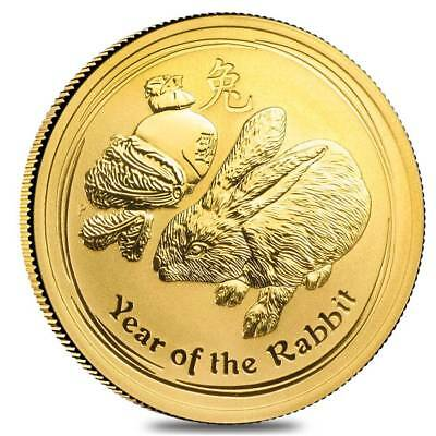 Perth Mint Australia $50 Lunar Rabbit 2011 1/2 oz .9999 Gold Coin