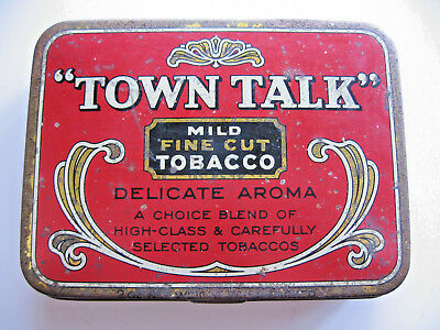 Town Talk Fine Cut Tobacco Tin Made In Sydney Australia Collectable