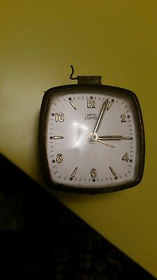 Old Vintage Smiths Empire Brass Mechanical  Winding Clock