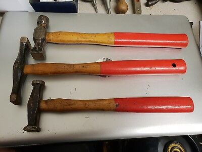 3 Vintage Panel Beaters Hammers