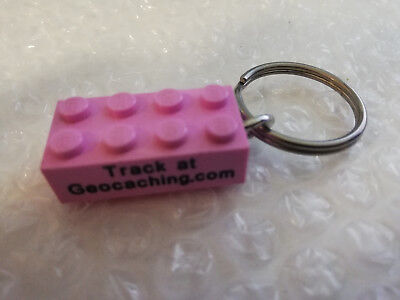 geocoin trackable geocaching - Lego - Stein rosa